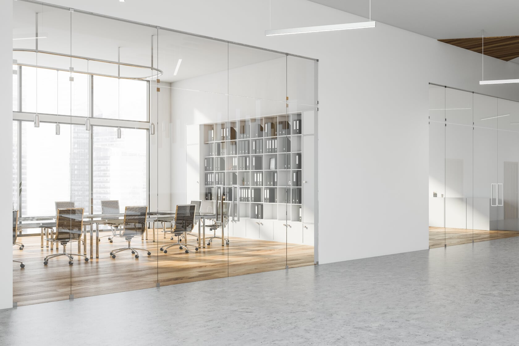 bigstock-White-Meeting-Room-With-Bookca-311050171
